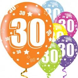 Ballons du 30e anniversaire...