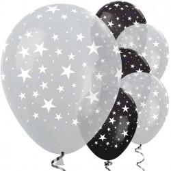 Ballons étoiles argentées...