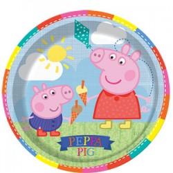 PEPPA PIG - 8 PLATES 23cm