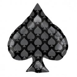 """Black Spade Balloon - 18"""" Foil"""
