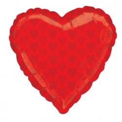 Ballon coeur rouge -...