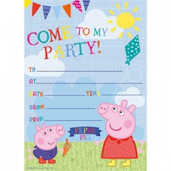 PEPPA PIG - INVITATIONS