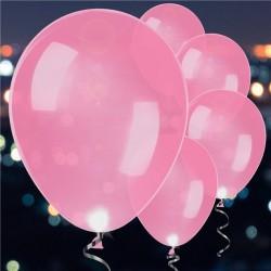 Pink Latex LED Balloons -...
